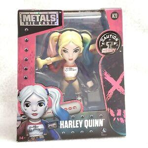Harley-Quinn-Die-Cast-Metal-Figurine-M20-NIB-Suicide-Squad-Jada-Toys-4-034-Figure