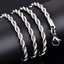 Gold-Color-Twist-Chain-Necklace-Stainless-Steel-Women-039-s-Men-Rope-Chain-Necklace thumbnail 1