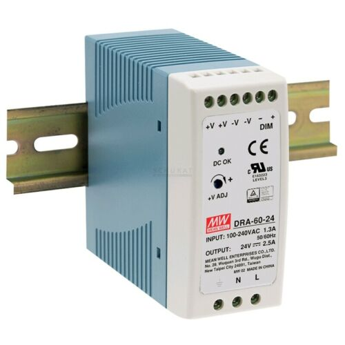 Boutons d/'alimentation 12 V 5 A 60 W pour rail DIN dra-60-12 de MeanWell