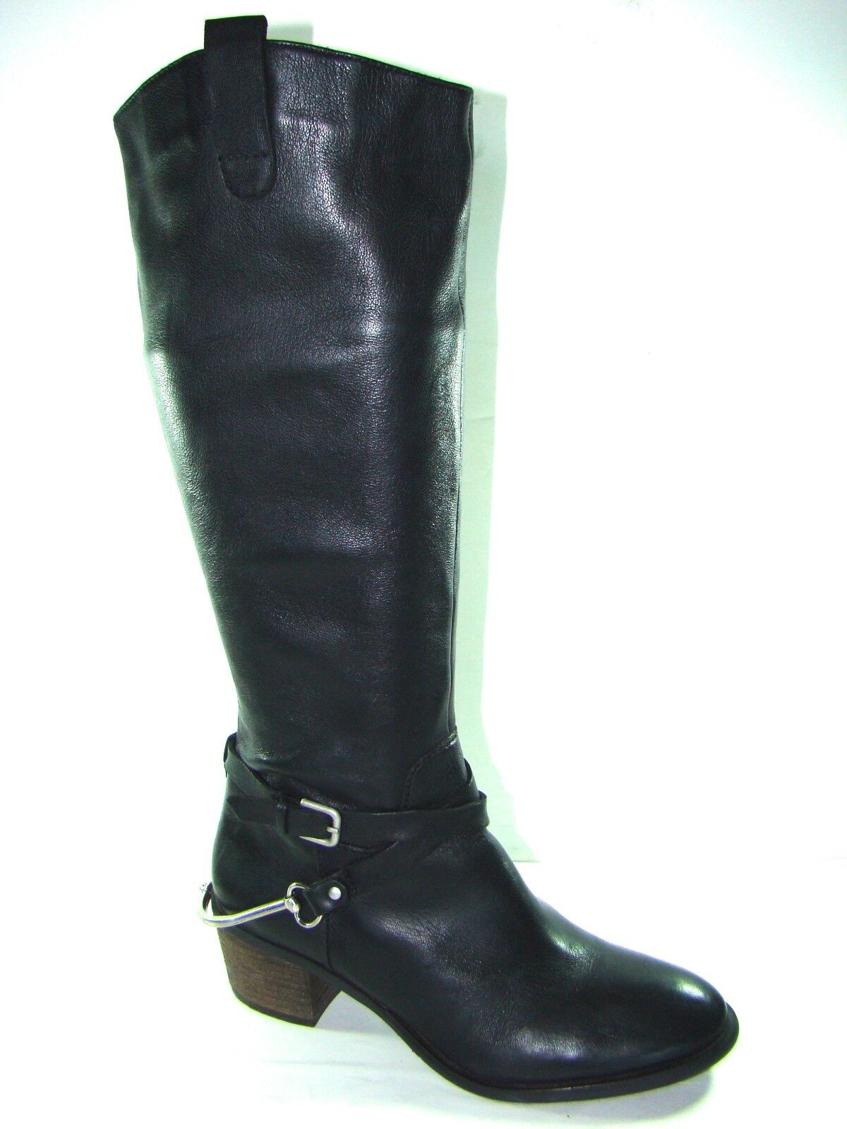 NEW Steven Steve Madden STURRIP Knee high riding style boots boots boots Black Spurs Sz 8 d0adc9