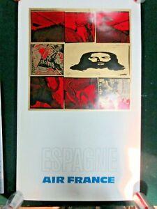 Espagne Spain Air France Travel Poster Ebay