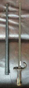 French M1874 Gras Rifle Bayonet w/ Scabbard