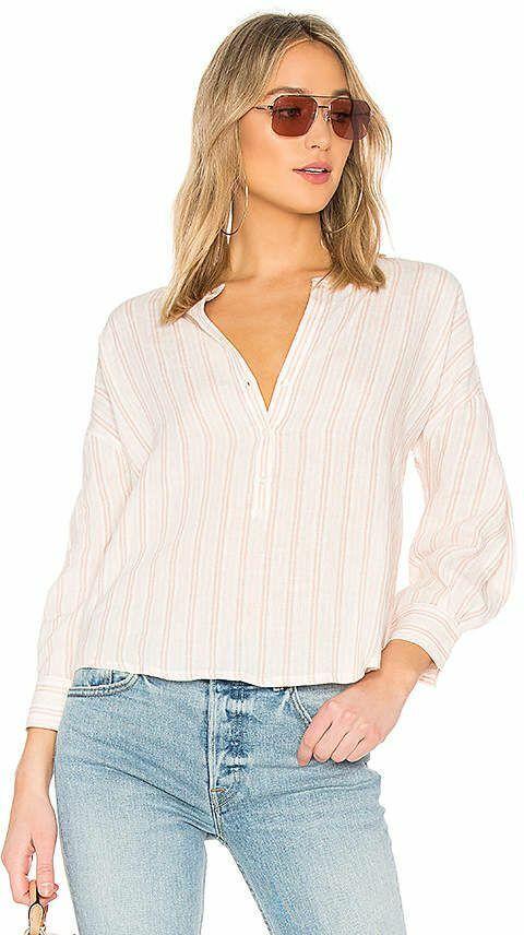 Bailey 44 Open net top navy stripe mesh shirt sz small