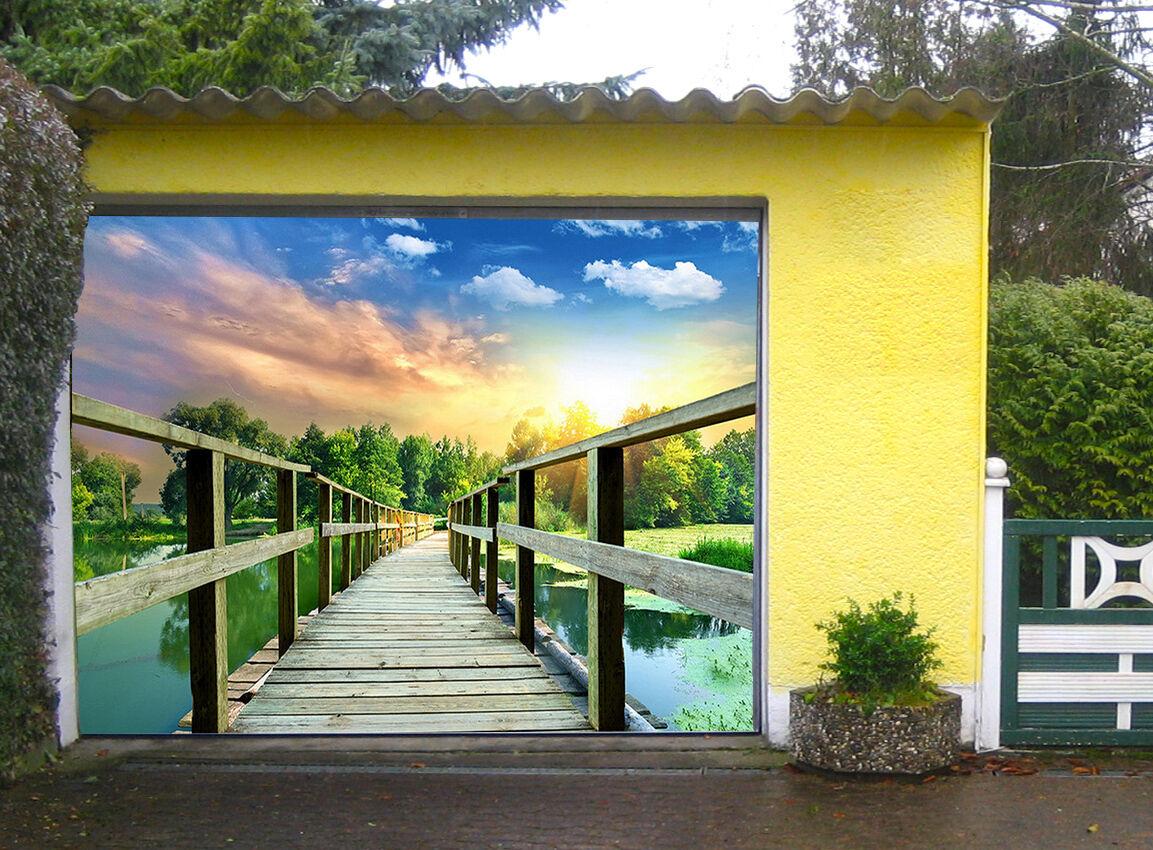 3D Ponte Legno Legno Legno 016 Garage Porta Stampe Parete Decorazione Murale AJ WALLPAPER IT 86e3f3