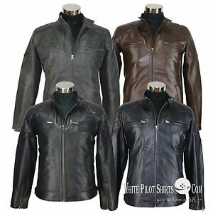 David-Beckham-Stannard-style-Quilted-Leather-Jacket-Mens-Padded-Motorbike-Gents