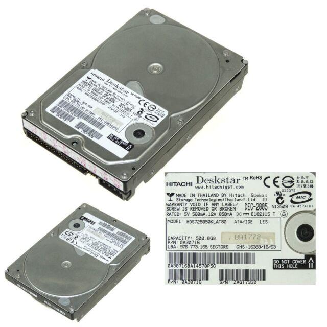 HITACHI HDS725050KLAT80 ATA 500GB 7.2k 3.5''