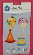 Birthday Party Chocolate Lollipop Candy Mold,Wilton,Clear Plastic,2115-4434
