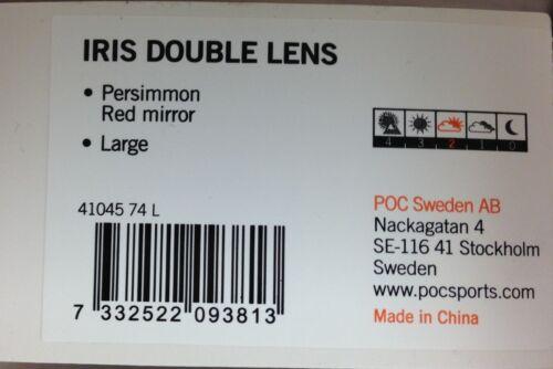 Snow goggle-POC Iris Double Lentille taille L kaki avec Miroir Rouge Remplacement