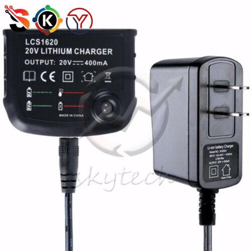 NEW Black /& Decker LCS1620 20 volt Style Lithium-ion Charger LBX20 LBX4020 L1ST