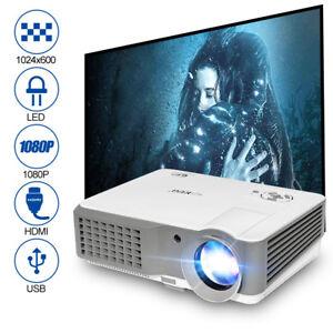 4000Lumen-LED-Beamer-Heimkino-Videospiele-LCD-Projektoren-Full-HD-1080p-TV-Spiel