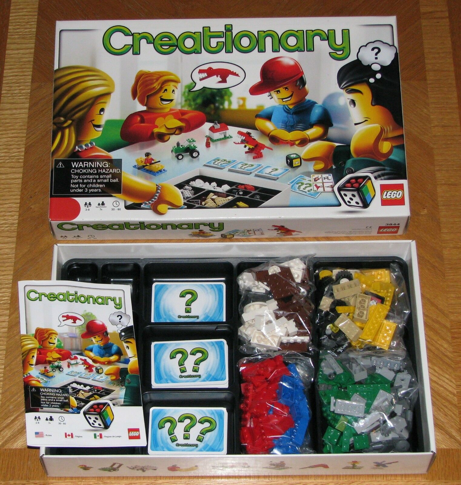 2010 Lego Creationary Board Game - Complete & Nice
