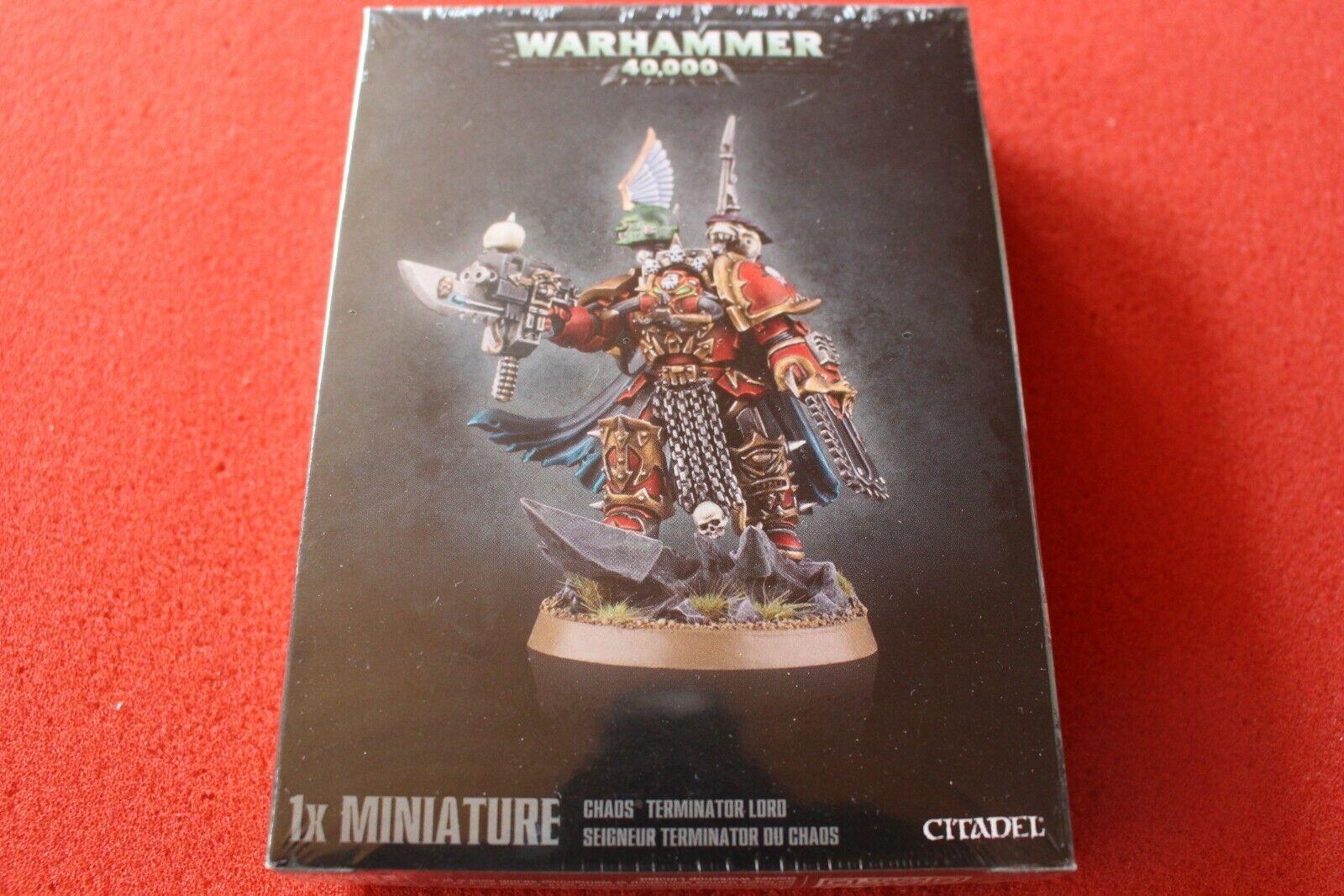 Games Workshop Warhammer 40k Chaos Space Marines Terminator Lord Sorcerer OOP