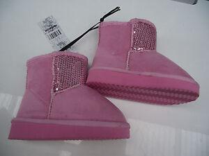 BNWT Little Girls Sz 11 Rivers Doghouse Long Chocolate /& Sequins Slipper Boots