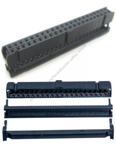 Lot50 Female 40pin IDC//IDS 40wire Ribbon Cable//Cord IDE Crimp end//terminator