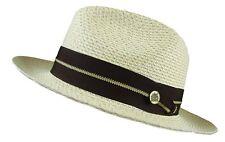 287a6203e17 item 6 Stetson Winston Straw Hat Fedora Tan Size 7 3 8