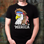 039-Merica-4th-Of-July-Bald-Eagle-T-Shirt-USA-Patriotic-American-Flag-Mullet-Tee miniature 2