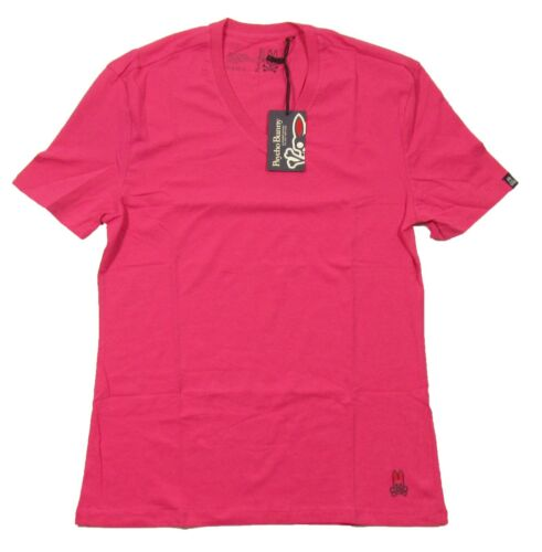 Psycho Bunny Homme Bouy rose à manches courtes T-Shirt col V