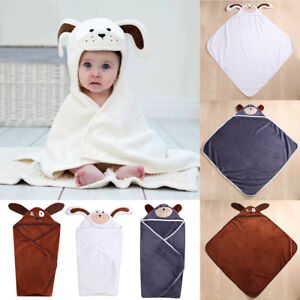 Lovely-Baby-Boys-Girls-Cartoon-Hooded-Bathrobe-Child-Toddler-Bathing-Towel-Robe