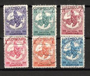 Lussemburgo/aiuto per bambini-aide à l 'Enfance 1934/mi/259-264 PUNZONATO [34-1]