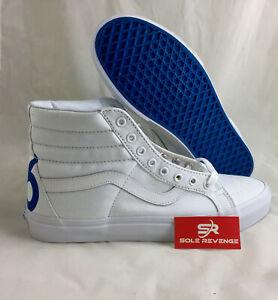 b0d20f87afa8bd NEW! Vans Sk8-Hi 1966 Top Reissue Sneaker Skate Shoes White Blue Red ...