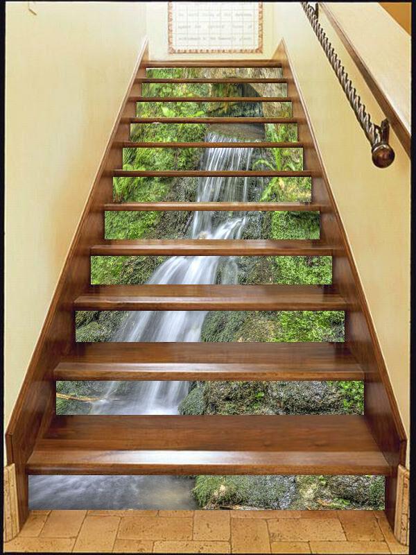 3D High streams 233 Stair Risers Decoration Photo Mural Vinyl Decal Wallpaper AU
