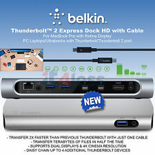 Belkin Universal Thunderbolt 2 Express Dock HD 8-Ports with 1m Cable F4U085vf UK