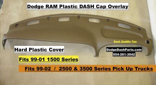 Dodge Ram Plastic Dash Cap Hard Cover Fits 99-02 SLT /& Sport Dark Saddle Tan