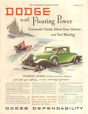 1932 DODGE  COUPE ORIG VINTAGE CAR  AD