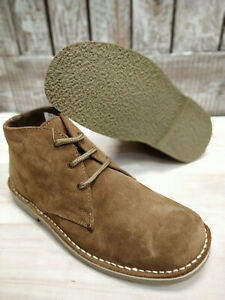 f9a25dc3389 Details about Mens Suede Desert Boots Classic Laced Sand Mod Casual Size 6  to 14 Dessert New