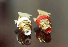RCA socket PCB mount right angle gold-plated one pair  !