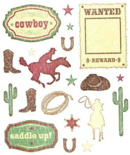 COWBOY Scrapbook Stickers and Phrases