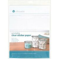 Silhouette America - 8.5 x 11 Printable Sticker Paper Clear Craft Supplies on Sale