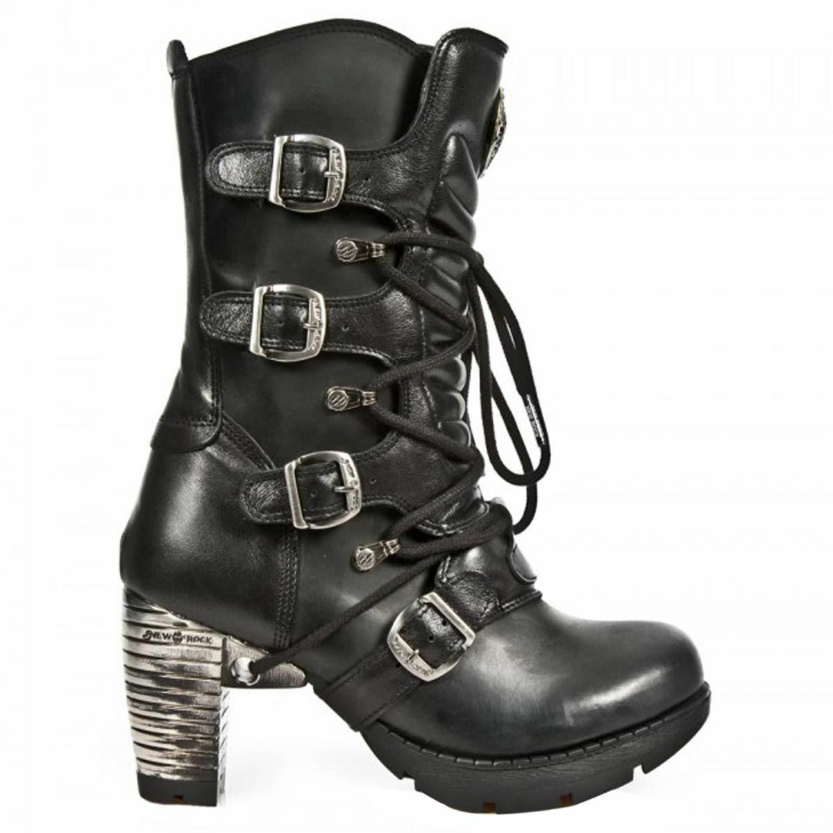 modelo más vendido de Mujeres la marca New Rock Mujeres de Botas gótico negro M TR003 80dfc1