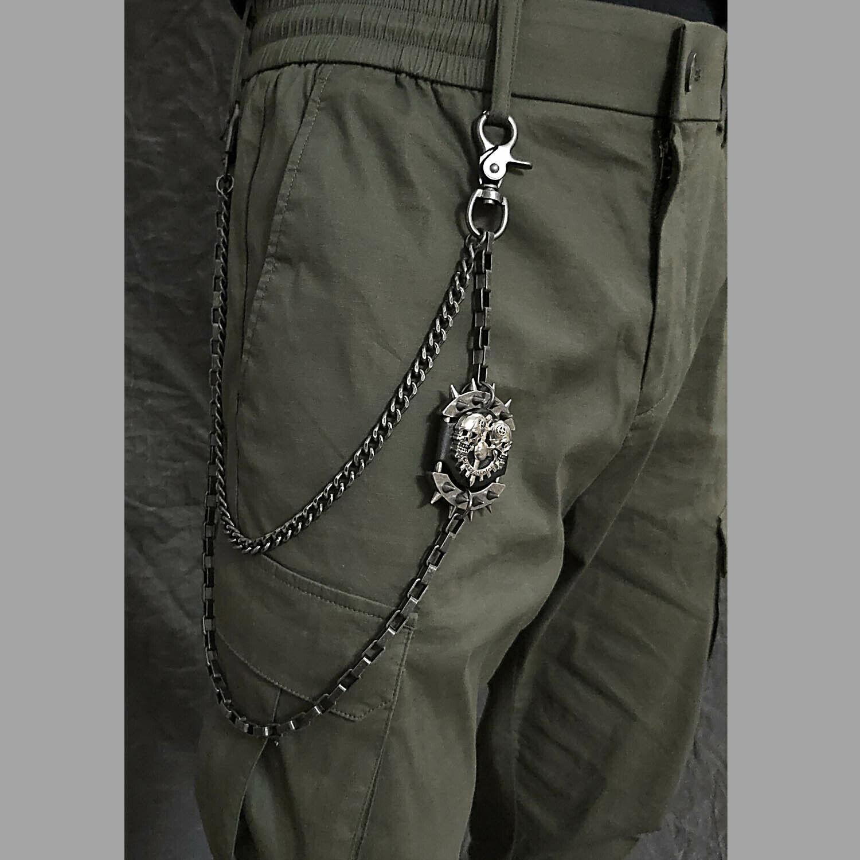Skull Hip Hop Punk Keychain Biker Wallet Chain
