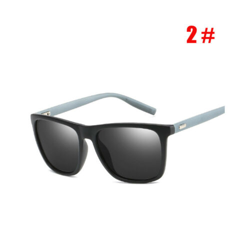 Black Square Frame Polarized Sunglasses Driving Mens Designer Retro Eyewear CE