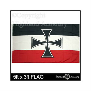 Flag Banner German Naval 5ft x 3ft 150cm x 90cm