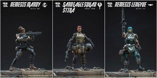 JOY TOY 1 25 Nemesis Lengyue Mandy Stina PVC Squad Set of 3 Action Figures NEW