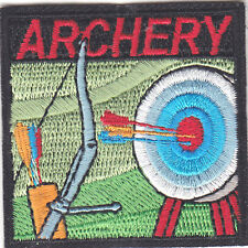 """ARCHERY"" TARGET -  BOW & ARROW - SPORT - GAME - -Iron On Embroidered Patch"