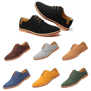 2019-Suede-European-style-leather-Shoes-Men-039-s-oxfords-Casual-Multi-Size-Fashion