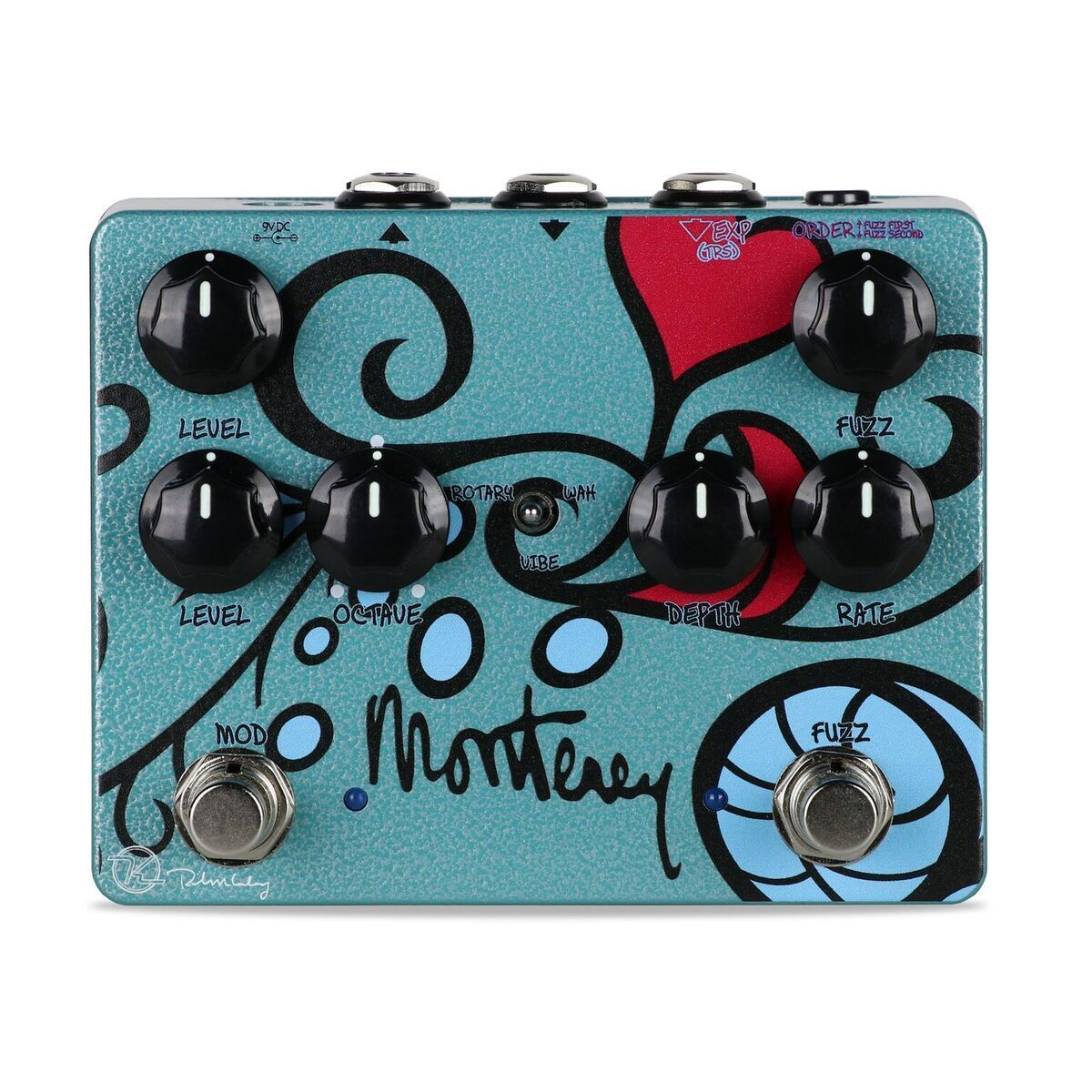 New Keeley Monterey Rotary Rotary Rotary Fuzz Vibe Guitar Effects Pedal d5764b