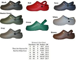 Womens-Nursing-Medical-Clogs-Garden-Shoes-Assorted-Colors-Size-5-6-7-8-9-10-11