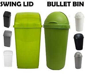 BalanÇoire En Plastique Couvercle Bin Bullet Bin DÉchets Ordures Dust Bin Cuisine Particuliers-afficher Le Titre D'origine