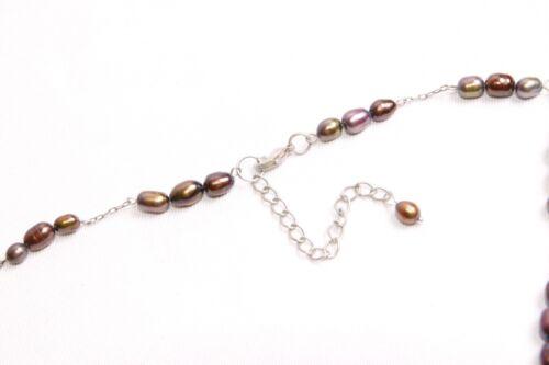 Minimalist Thin Ladies Trio Chrome Effect Beads Necklace//Choker S483