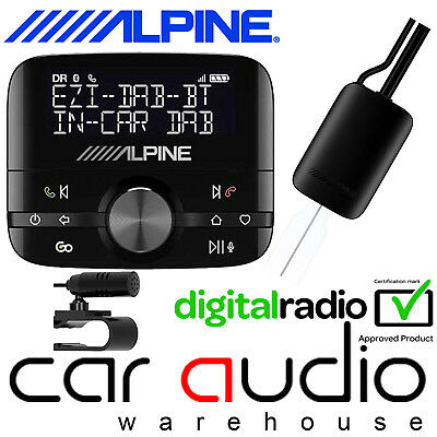 Alpine Ezi-DAB-BT Universal Car DAB Radio /& Handsfree Bluetooth /& Streaming Kit