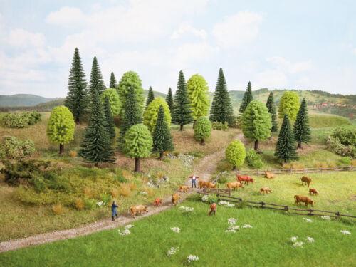 NOCH32811Spur N,ZMischwald 25 Bäume 3,5-9 cm hoch  Modellbäume