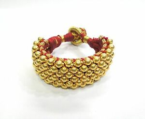 Vintage antique traditional handmade 20K Gold jewelry beads bracelet
