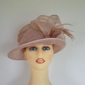 Image Is Loading Las Formal Wedding Hat Races Mother Bride Pink