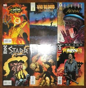 Richard-Corben-Lot-Punisher-The-End-Vic-and-Blood-Aliens-Alchemy-1-Ghost-Rider