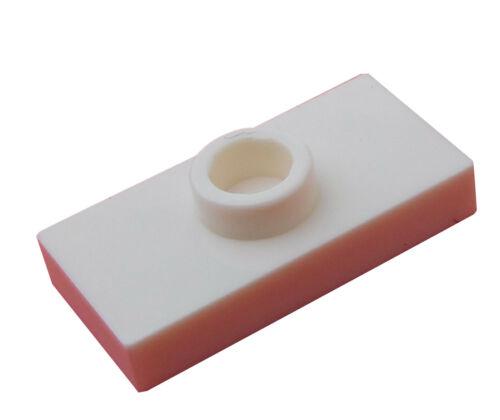 15573 Neu weiss Lego 10 Stück weiße Platte Fliese mit einer Noppe 1 x 2