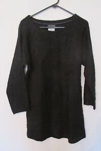Femmes Uni Noir Taille Natori Longues Pull Laine Grande Manches Neiman Marcus FzRrwFqa